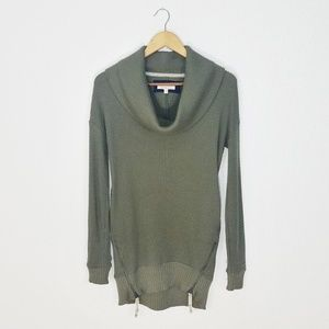 Anthropologie Pure + Good Cowl Neck Waffle Sweater